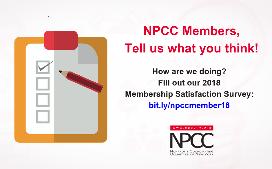 Tell Us What You Think! 2018 Membership Satisfaction Survey